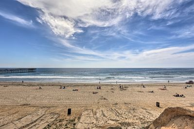 Walk over to the white-sand shoreline of Pacific Beach!