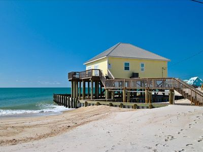 Photo for Direct Gulf-front 3 bedroom Beach House on the quiet West End of Dauphin Island
