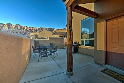 Enjoy sunsets over the La Sal Mountains at this vacation rental townhome.