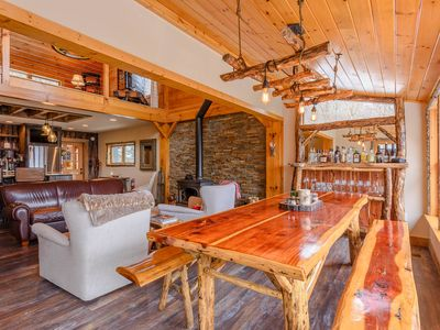 Photo for Luxury Mountain Cabin with Views, Wood Stove, Fire Pit, Upscale Kitchen, Close to Skiing