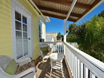 Photo for Relax on historic inn's top floor - shared pool & semi-private deck!