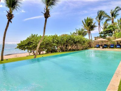 Photo for 8 Bedroom beach front villa in Punta Cana
