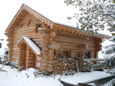 Photo for Super massive log cabin with views over Lake Matemale