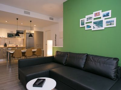 Photo for Ideal apartment for 6 people, well connected