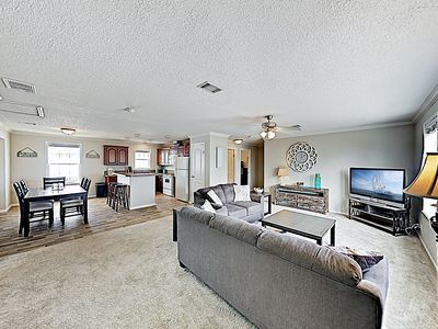 Photo for New Listing! Beachside Retreat w/ Deck, Water Views - Walk to Waves