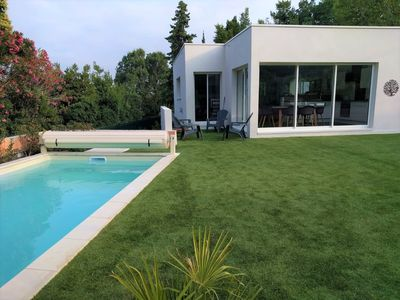 Photo for Amazing modern villa in the heart of Beauvallon Golf with swimming pool