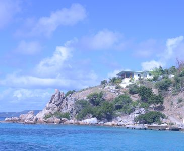 The house at Quart-A-Nancy Point, Cooper Island from Manchioneel Bay