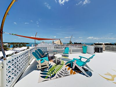 Photo for 3BR/3BA w/ Rooftop Deck & Ocean View - Boat Dock, Access to Club Beach & Pool