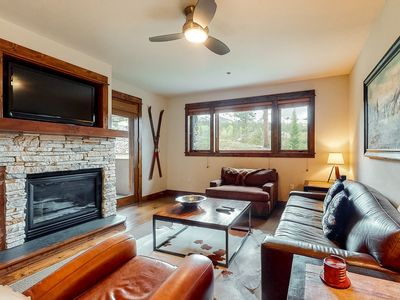 Photo for Lovely mountain home featuring shared pool, hot tub, & gaming center!
