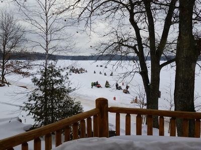 The snowmobile trail goes right off the front of the property.