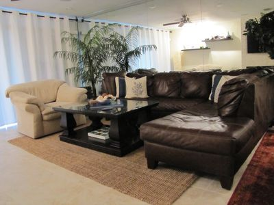 Comfortable and modern living area with new structured audio / video system.