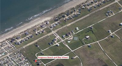 Beach Retreat proximity to the beach with gorgeous beach and bay views!