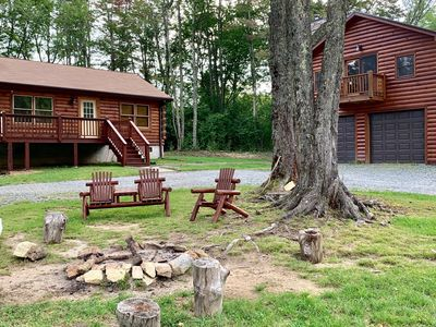 Photo for Dual Cabins w Hot Tub, Fire Pit - Gated mountain community