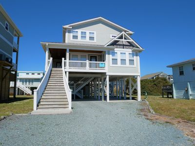 Photo for This nicely appointed 4 bedroom, 3 1/2 bath vacation home on the West End is close to restaurants and offers convenient beach access right across the street!
