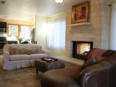 Photo for Mockingbird House Suite #1, Gorgeous fireplace! Country setting with wildlife!