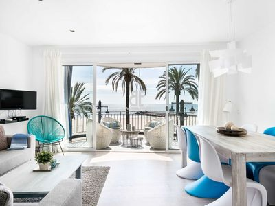 Photo for Be Apartment - Bright luxury apartment with terrace overlooking the sea. 3 bedrooms and 2 bathrooms. Located in the center of Sitges and a few meters from the beach.