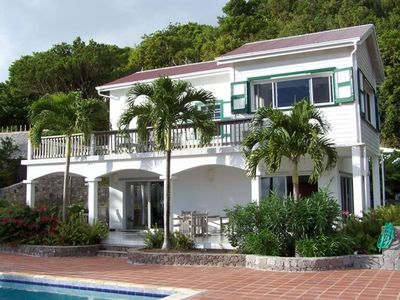 Traditional Dutch Caribbean villa tucked away on the south flank of Mt. Scenery