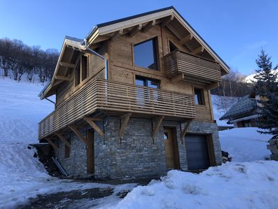 Photo for New chalet in Valloire, 10 p 300 m from the slopes