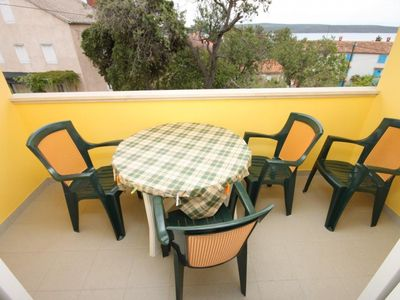 Photo for Two bedroom apartment with terrace and sea view Nerezine, Lošinj (A-3451-b)