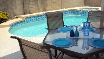 Enjoy the weather and dine outside, gas BBQ provided.