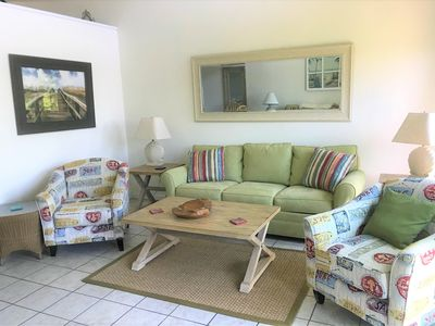 Photo for Two bedroom, Two and a Half Bathroom Condominium Mere Footprints to the Beach