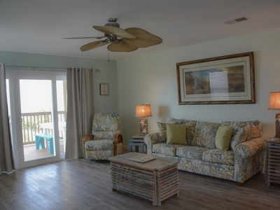 Photo for Newly remodeled, 2/2.5 Gulf front townhome, Pet friendly, WIFI!