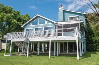 Photo for K1526 Sunset Villa. OPEN YEAR-ROUND, Waterfront/Private Pier, Views, PETS OK!
