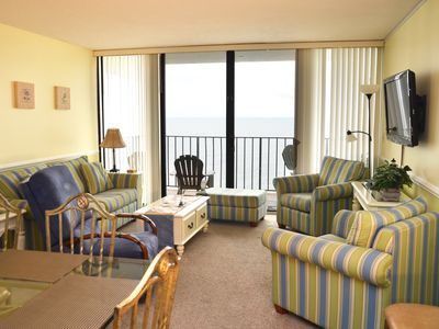 Photo for SPACIOUS 3 BEDROOM CONDO RIGHT ON THE OCEAN HERE IN GARDEN CITY SC!