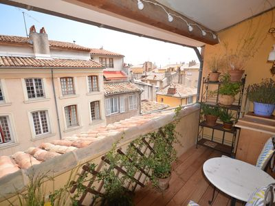 Photo for Duplex Historic City Center /Rooftop view balcony /air conditioning/free wifi