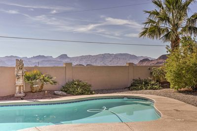 Find refuge from the heat in your private pool.