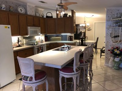 Photo for Beautiful Vacation Home 3-2 w/ 6 Eating Areas, 2000+ sq. ft. under A/C
