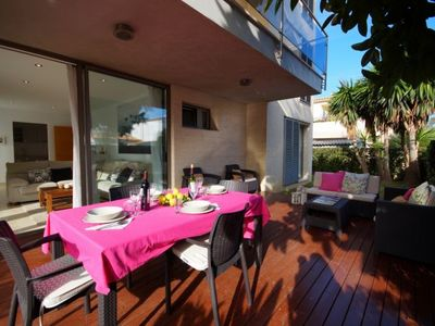 Photo for Port de Pollenca Apartment, Sleeps 6 with Pool, Air Con and WiFi