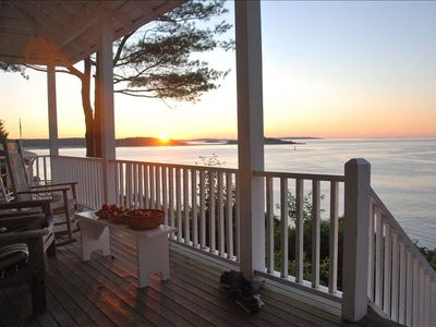 Photo for Enjoy Sweeping Waterfront View, Watch Lobster Boats from Porch