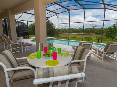 Photo for Resort Amenities Open! Private Pool/Spa/Covered Lanai/Nice View/No Rear Neighbor