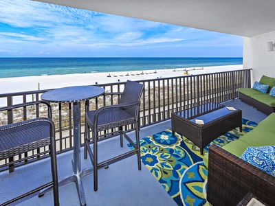Photo for NEW! Reviews 4.9! Ocean front 2BR/2BA Sleeps 6  FREE Beach Chaises  SELLS OUT!