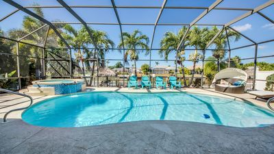 Photo for Southern Heated Pool, Spa and Boat LIft - Villa Coral Harbour - Cape Coral