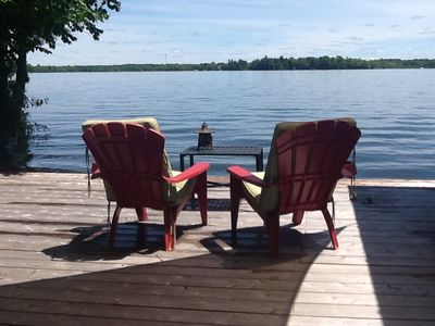 Morning coffee or afternoon drinks by the lake