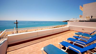 Photo for UP TO 60% OFF! Refurbished beach front house,Private Pool,AC,free WiFi,sea view