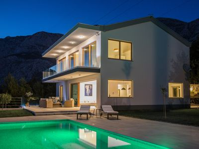Photo for Beautiful isolated, disinfected Villa Yanko with fantastic SeaView, heated Pool