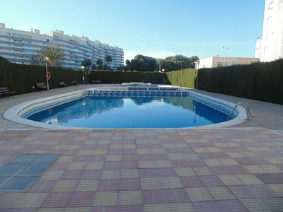 Photo for Lovely two bedroom apartment with  sea views and communal pool and free wifi