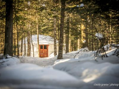 Photo for Hebergements aux Cinq Sens - The Yurts - Touch Yurt