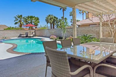 Enjoy poolside dining and relaxing!