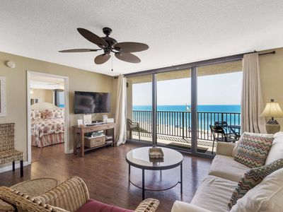 Photo for #402 - Beach Front - Overlooking Gulf - WiFi - Steps to Beach - Large Resort Pool