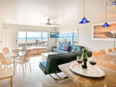 Photo for Right on the Famous Mission Beach Boardwalk - Sleeps up to 8 on Ground Floor