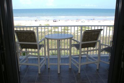 Actual Beachfront View from Balcony Patio