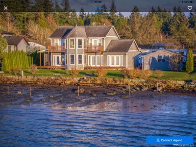 Photo for Luxury Waterfront, Home  beachfront  Sunsets  Drayton Harbour  5 Min to Canada