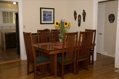 Dining room with Mission style table