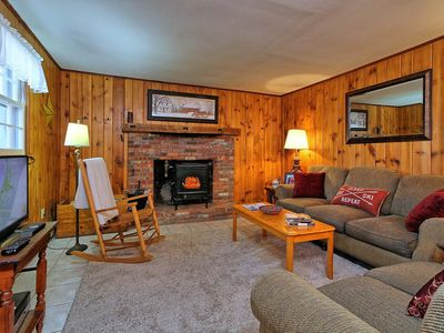 Photo for Inn the Woods is an adorable 2 bedroom lower part of a house.  Warm and quaint with wood paneling throughout.