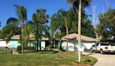 Photo for Waterfront - great pool, kayak, large garden, very cozy, beach very close