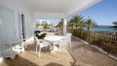 Photo for Great first line apartment right on the Playa de Palma